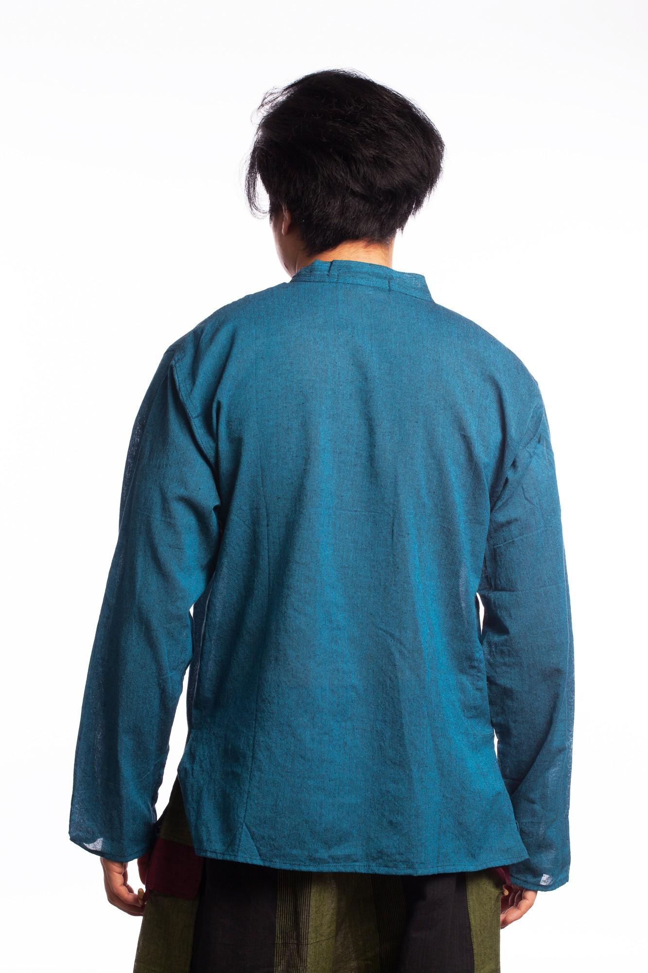 Camasa albastru inchis cu guler stil tunica