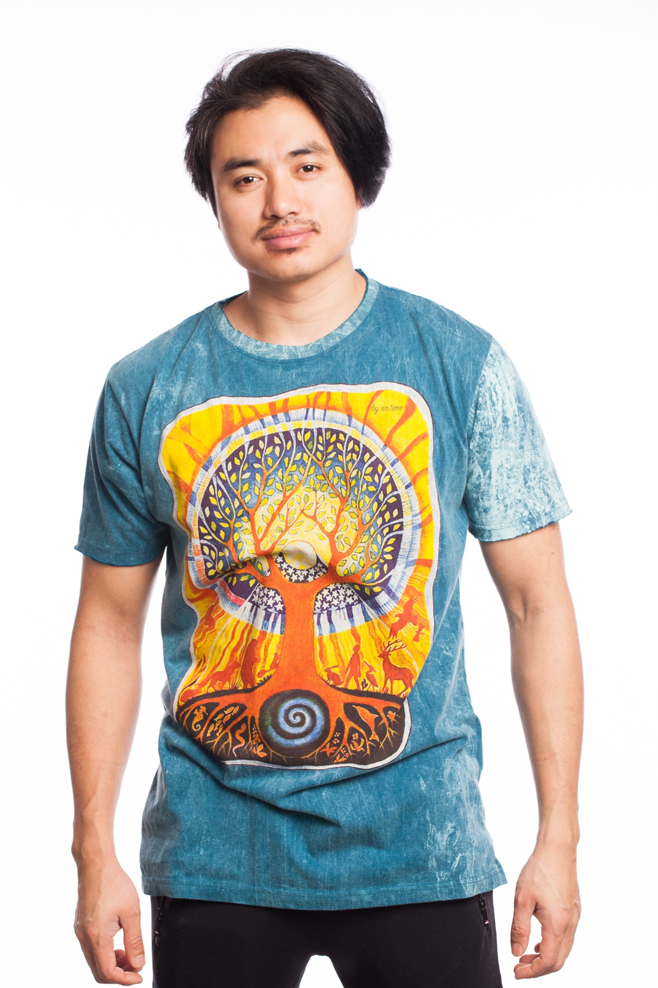 Tricou albastru Tree of Life