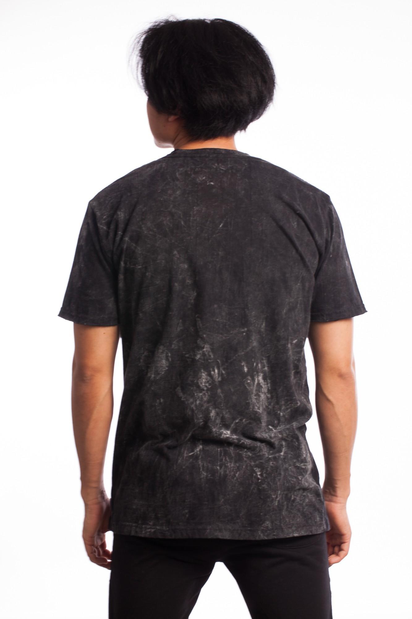 Tricou negru Hamsa