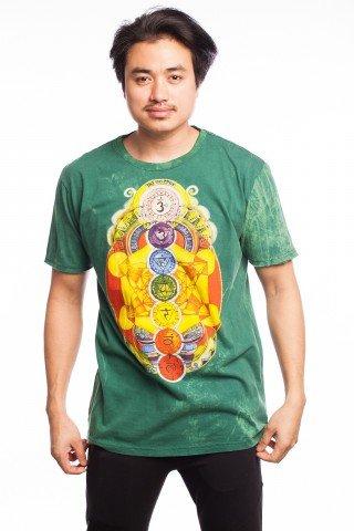 Tricou verde 7 Chakras