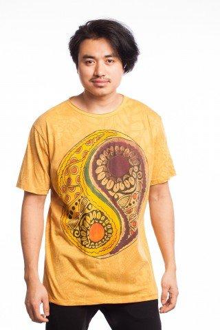 Tricou galben Ying Yang