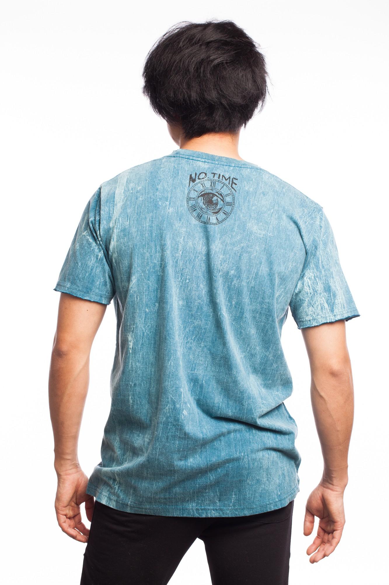 Tricou albastru cu imprimeu psy