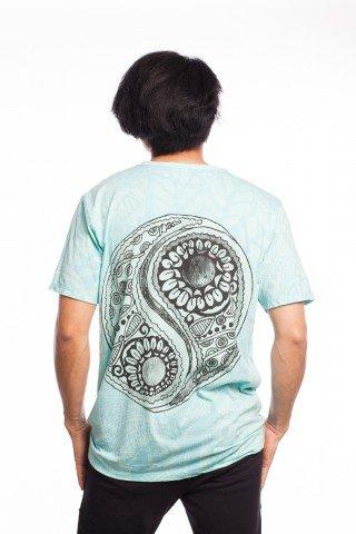 Tricou bleu Yin Yang