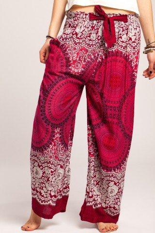 Pantaloni boho multicolori largi mandala