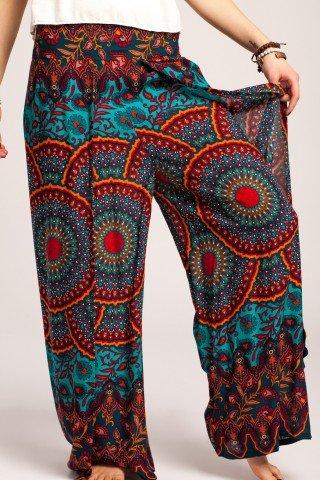 Pantaloni petrecuti cu banda lata in talie
