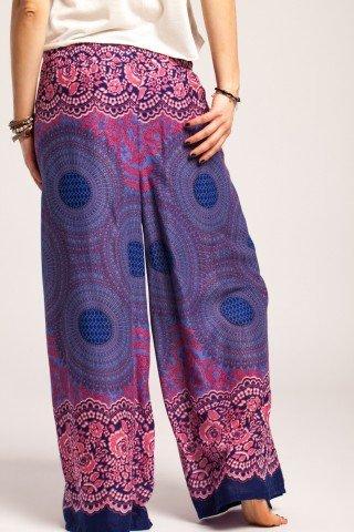 Pantaloni petrecuti cu imprimeu etnic mandala