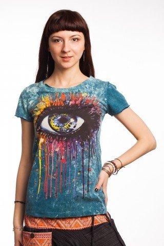 Tricou albastru Eye Art