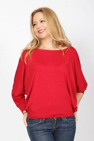 Bluza din vascoza rosie