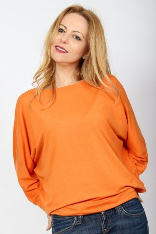 Bluza fluture din vascoza portocalie