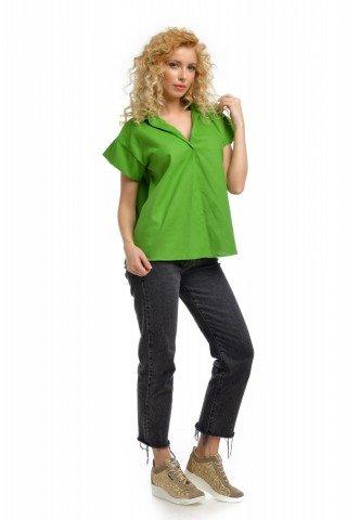 Bluza casual Natalee verde oversized