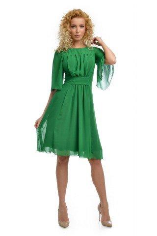 Rochie verde din voal versatila