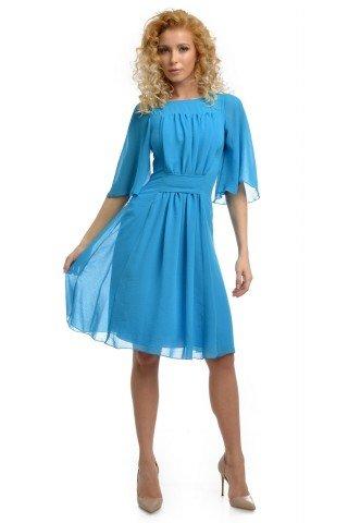 Rochie albastra din voal versatila