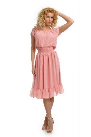Rochie roz din voal
