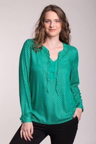 Bluza verde cu insertii aurii