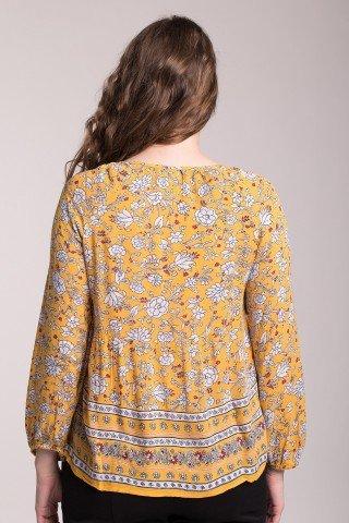 Bluza galbena cu imprimeu floral