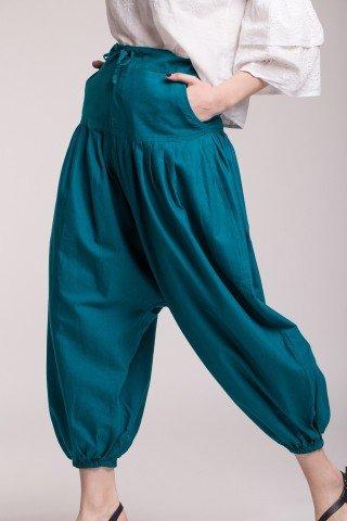 Pantaloni tip salvari din bumbac