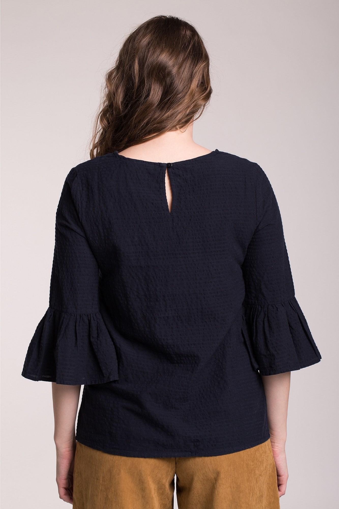 Bluza bleumarin cu volan