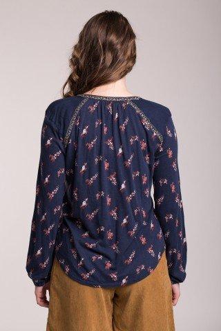 Bluza bleumarin cu imprimeu floral