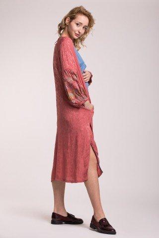 Rochie-kimono cu maneci brodate