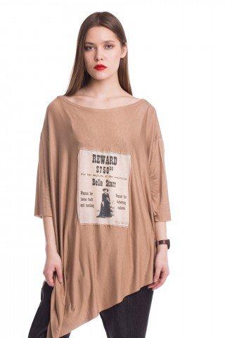Bluza asimetrica Belle Starr bej