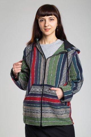 Jacheta din bumbac cu gluga Maya