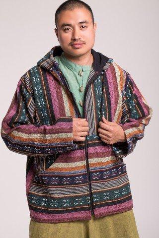 Jacheta multicolora Chen cu gluga