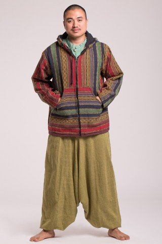 Jacheta multicolora Juan cu gluga