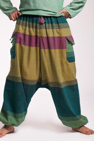 Salvari unisex multicolori Leon cu buzunare aplicate
