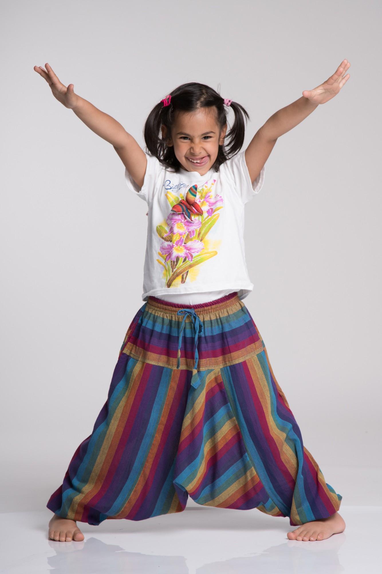 Salvari copii dungi multicolore