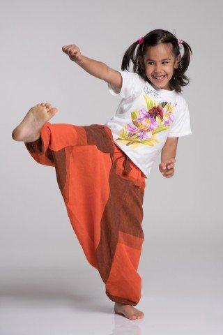 Salvari copii caramiziu-portocaliu