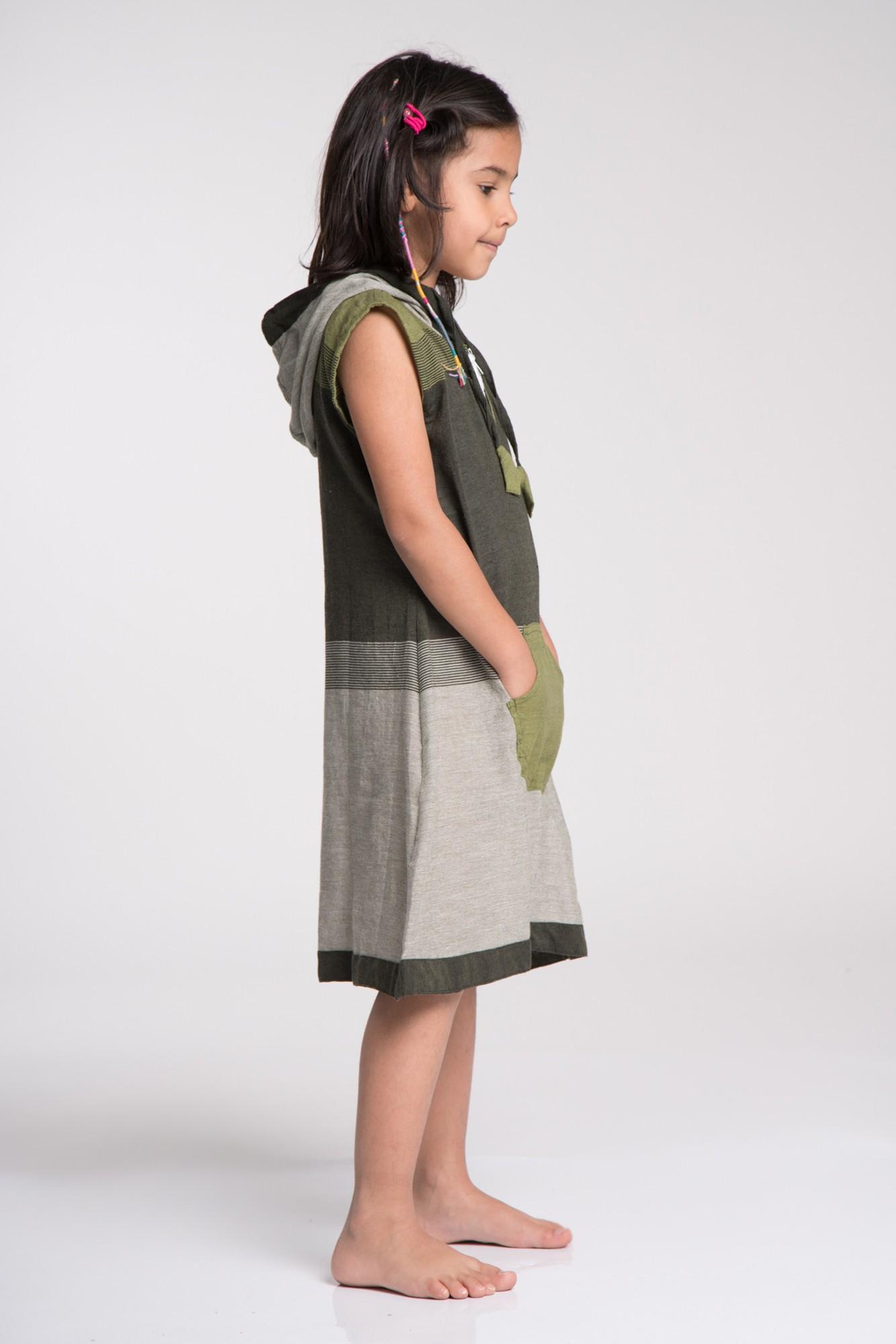 Rochie copii gri-kaki