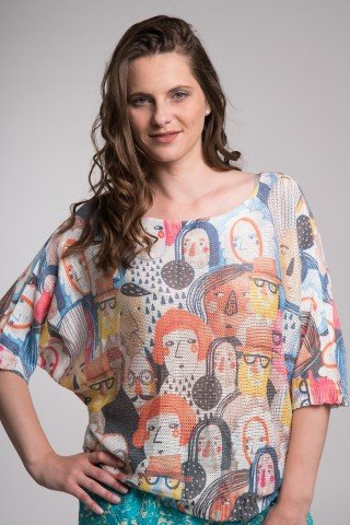 Bluza tricotata multicolora Faces