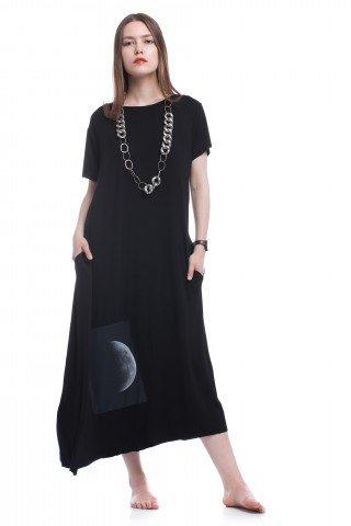 Rochie asimetrica Dark side of the Moon