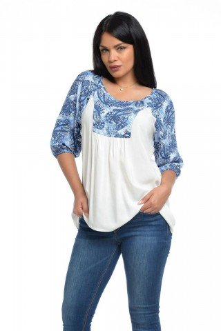 Bluza platca imprimeu paisley