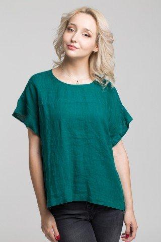 Bluza verde smarald din in