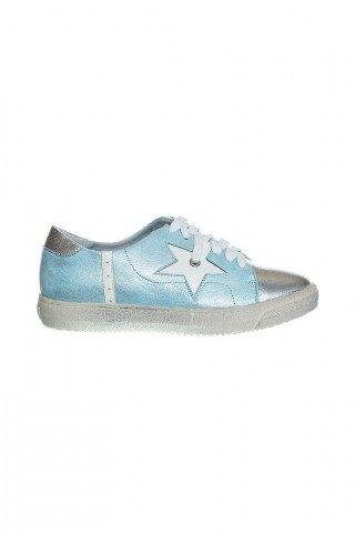 Pantofi comozi bleu cu stele