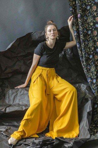 Pantalon vascoza palazzo