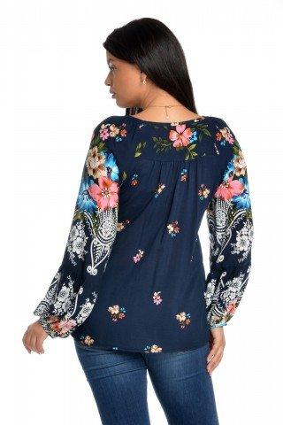 Bluza imprimeu combinat Eranthe