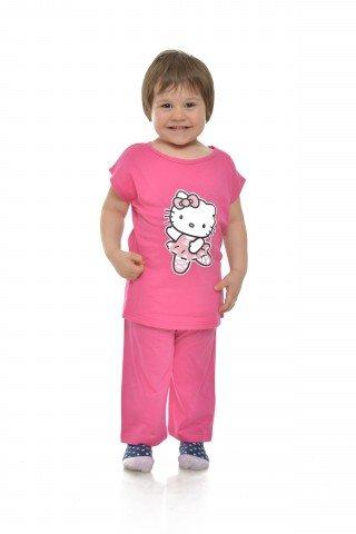 Pijama roz cu pisicuta balerina