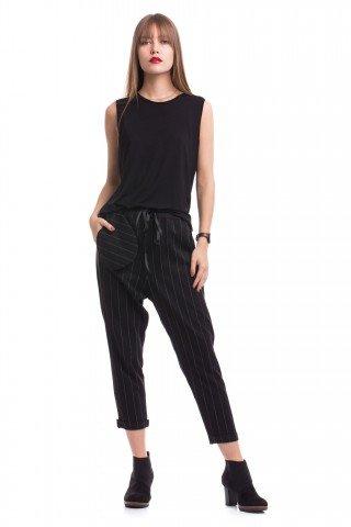 Pantaloni cu stofa in dungi Extra Pocket