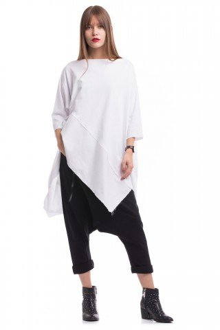 Bluza asimetrica si supradimensionata My White Swan