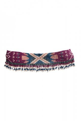 Choker boho multicolor cu motive tribale