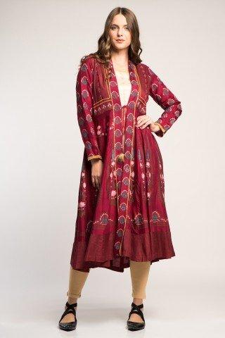 Costum traditional indian elegant cu 3 piese