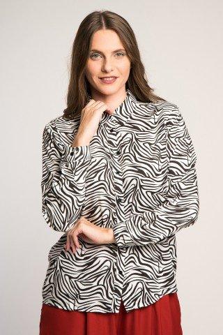 Camasa versatila cu imprimeu zebra