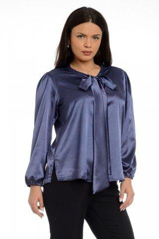 Bluza Eranthe din satin cu funda ampla