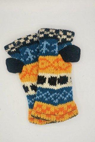 Manusi din lana cu dublura de polar pentru condus fara degete