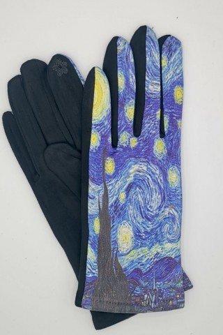 Manusi elegante touch screen cu imprimeu Noapte Instelata
