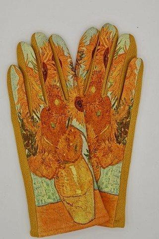 Manusi elegante cu broderie touch screen Floarea Soarelui