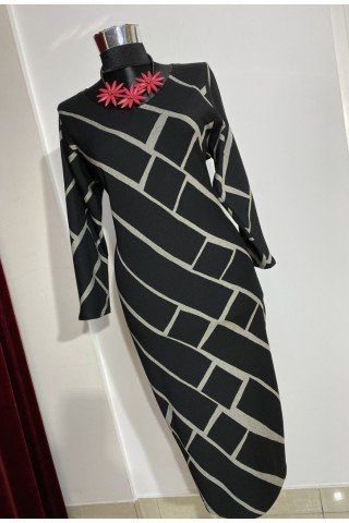 Rochie eleganta cu imprimeu geometric
