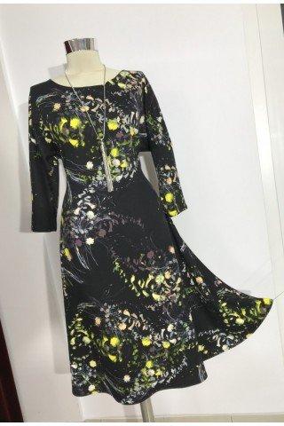 Rochie evazata eleganta cu imprimeu floral
